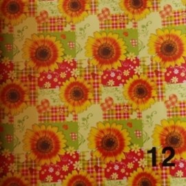 CARTA REGALO 25 FOGLI CM 70X100 PIEGATA 1/2 GENERICA 12 girasoli