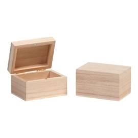 BOX IN LEGNO CM 7,5X5,5XH4,5 NATURAL AL PZ