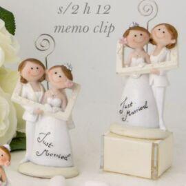 MARRIED LEI+LEI CLIP H 12 CM  AL PZ