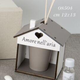 ARIA DIFFUSORE CASA BOTTIGLIA MARRONE CM 12X13 CON SCATOLA