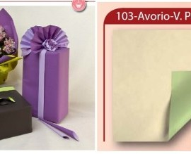 BOBINA DOUBLE FONDO PIENO 40MY H100X40MT (103) AVORIO/V.PASTELLO