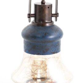 CONTENITORE LANTERNA DECORO 30 LED VETRO/METALLO CM 22X37