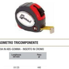FLESSOMETRO TRICOMPONENTE MM8X25