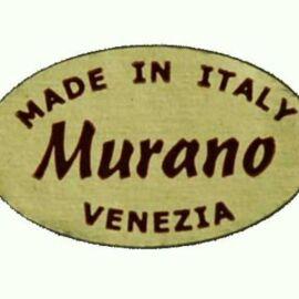 MURANO OVALE MM 20X12 SCRITTA ROSSA PZ 5000