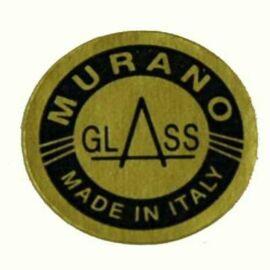 MURANO GLASS ROTONDA ORO SCRITTA BLU MM16 PZ 5000