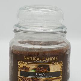 NATURAL CANDLE IN GIARA 380 GR 100% CERA VEGETALE CAFFE