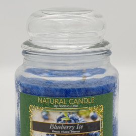 NATURAL CANDLE IN GIARA 380 GR 100% CERA VEGETALE BLUEBERRY ICE