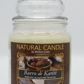 NATURAL CANDLE IN GIARA 580 GR 100% CERA VEGETALE KARITE