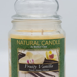 NATURAL CANDLE IN GIARA 580 GR 100% CERA VEGETALE VANILLA