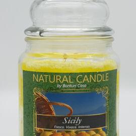 NATURAL CANDLE IN GIARA 580 GR 100% CERA VEGETALE SICILY