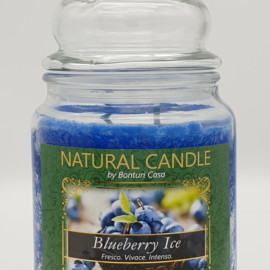 NATURAL CANDLE IN GIARA 580 GR 100% CERA VEGETALE BLUEBERRYICE