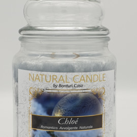 NATURAL CANDLE IN GIARA 580 GR 100% CERA VEGETALE CHOLE