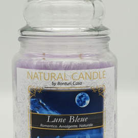 NATURAL CANDLE IN GIARA 580 GR 100% CERA VEGETALE LUNE BLEUE
