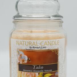 NATURAL CANDLE IN GIARA 580 GR 100% CERA VEGETALE TALCO