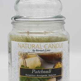 NATURAL CANDLE IN GIARA 580 GR 100% CERA VEGETALE  PATCHOULI