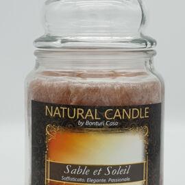 NATURAL CANDLE IN GIARA 580 GR 100% CERA VEGETALE SABLEETSOLEIL