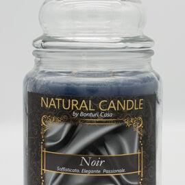 NATURAL CANDLE IN GIARA 580 GR 100% CERA VEGETALE NOIR