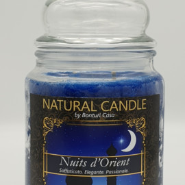 NATURAL CANDLE IN GIARA 580 GR 100% CERA VEGETALE NUITS ORIENT