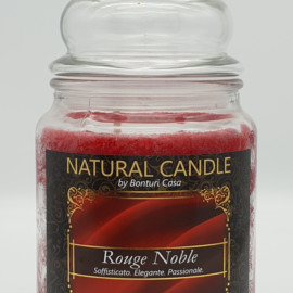 NATURAL CANDLE IN GIARA 580 GR 100% CERA VEGETALE ROUGE NOBLE