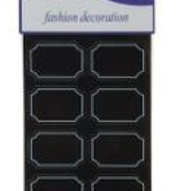 ETICHETTE ADESIVE MM 30X45 (48PZ) BLACK