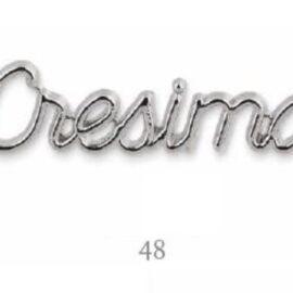 DECORO CRESIMA ARHENTO MM 48 ARGENTO AL PZ