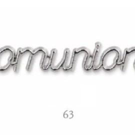DECORO COMUNIONE ARGENTO MM 63 AL PZ