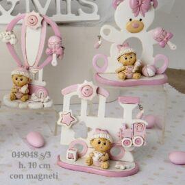 HAPPY BABY AL PZ CON MAGNETE ROSA SET 3 CM 10H
