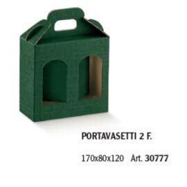 PORTA VASI 2 FINESTRE MM 170X80X120 SETA VERDE AL PZ