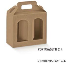 PORTA VASI 2 FINESTRE MM 210X100X150 ONDA AVANA AL PZ
