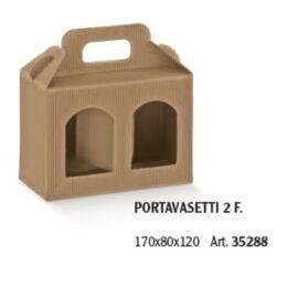 PORTA VASI 2 FINESTRE MM 170X80X120 ONDA AVANA AL PZ