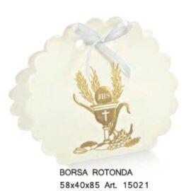 SCATOLA BORSA ROTONDA MM 58X40X85 SIGNUM ORO AL PZ