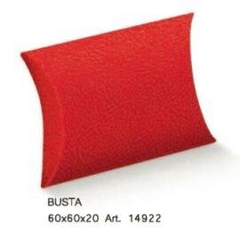 SCATOLA BUSTA MM 60X60X20 PELLE ROSSA AL PZ