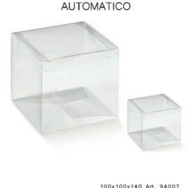 SCATOLA AUTOMONTANTE MM 100X100X140 TRASPARENTE