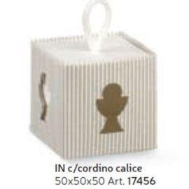 SCATOLA IN CON CORDINO MM 50X50X50 CALICE MILLERIGHE
