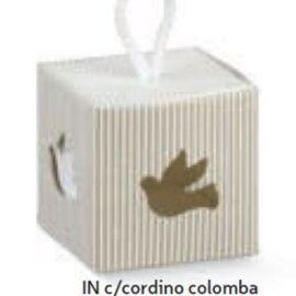 SCATOLA IN CON CORDINO MM 50X50X50 COLOMBA MILLERIGHE