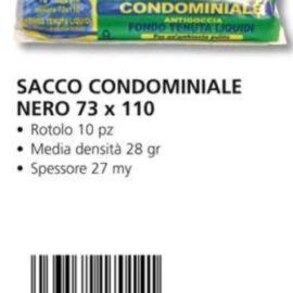 SACCO IMMONDIZIA CONDOMINIALE CM 70X110 NERO 10PZ