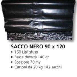 SACCO IMMONDIZIA NERO SEP CM 90X120 10PZ
