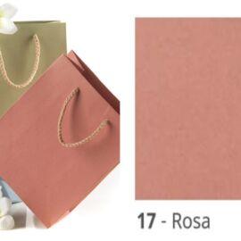 BUSTE SHOPPER CARTA KRAFT FONDO PIENO CM 12X15+7 AL PZ ROSA