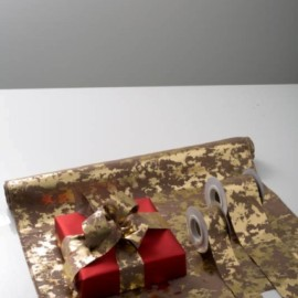 ROLLO SLUB PRINTING CM 48X5MT GOLD