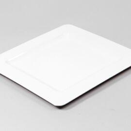 PIATTO PLASTICA QUADRO SHINY WHITE CM 29X29 AL PZ
