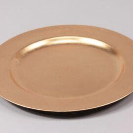 PIATTO PLASTICA D. 28 GOLD
