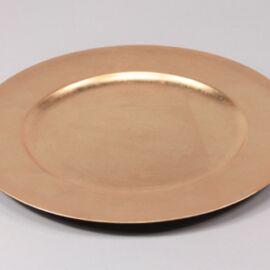 PIATTO PLASTICA D. 33 GOLD