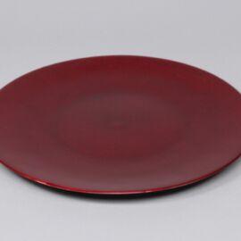 PIATTO PLASTICA D. 33 GLITTER RED