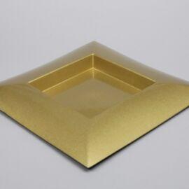 PIATTO PLASTICA QUADRATO CM 40X40X4,5 GLITTER GOLD