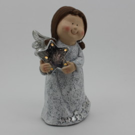 ANGELO STELLA IN PIEDI CON LUCE CM 24,5X19X42