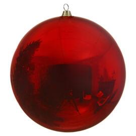 PALLA PLASTICA CM 40 CHRISTMAS RED