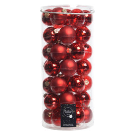 TUBO 18 PALLINE 49 D.6 ASS. CHRISTMAS RED