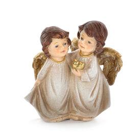 COPPIA ANGELI CON CUORE CM 21H