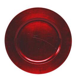 PIATTO PLASTICA D. 28 CM RED