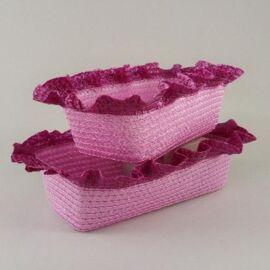 CACHE-POT RETT. ROSA PVC GRANDE AL PZ